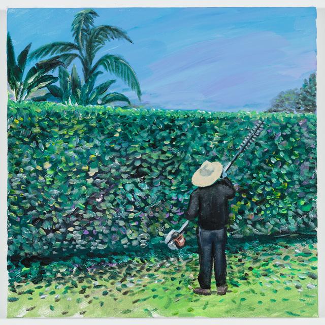 , 'A Man Trimming a Hedge ,' 2018, P.P.O.W