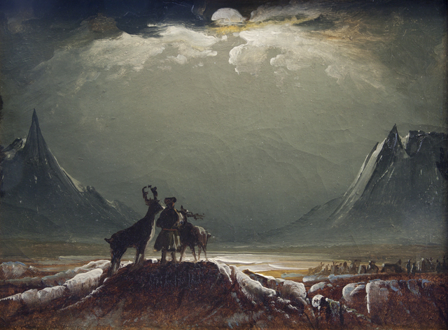 , 'Landscape from Finnmark with Sámi and Reindeer,' about 1850, The National Gallery, London