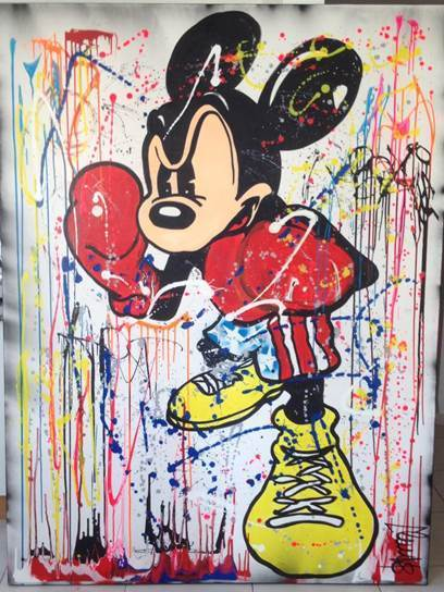 Clem$, 'Boxing Mickey ', 2017, Eden Fine Art