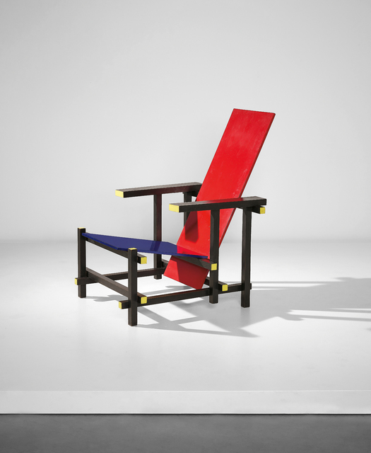 Gerrit Thomas Rietveld, ''Red-blue' armchair', designed 1919-executed ca. 1970, Phillips