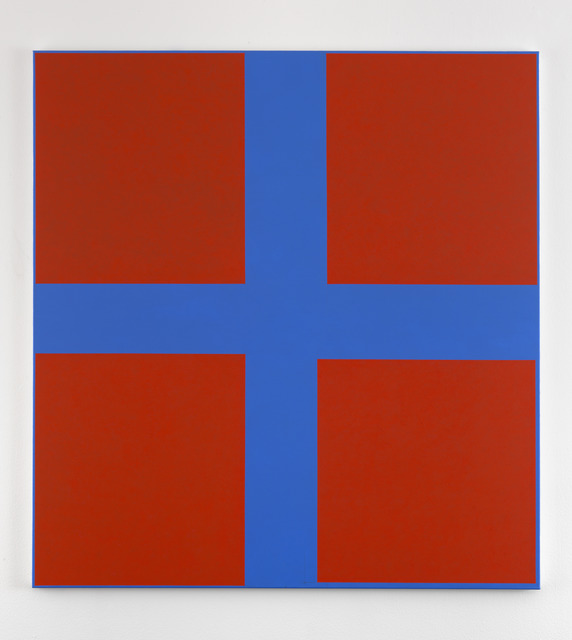 , 'Simple Paintings, Blue Cruciform (Fouquet's Angels),' 2012/13, Anthony Reynolds Gallery