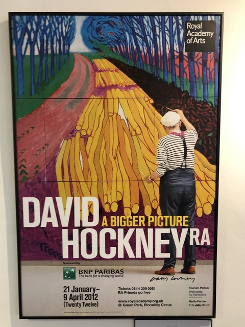 David Hockney, 'Hand Signed 'A Bigger Picture' Royal Academy', 2012, Mr & Mrs Clark's