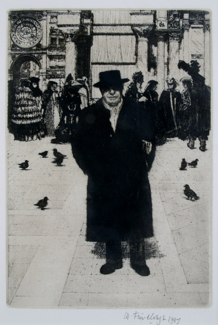 Wilfred Fairclough, 'Self-portrait, Venice', 1987, Private Collection, NY