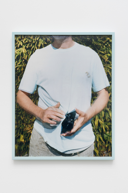 Scott McFarland, 'Lens Cleaning Rodenstock Apo-Sironar 5.6/150MM; James Perse Taffy Pigment Crewneck Jersey T-shirt', 2017, CHOI&LAGER