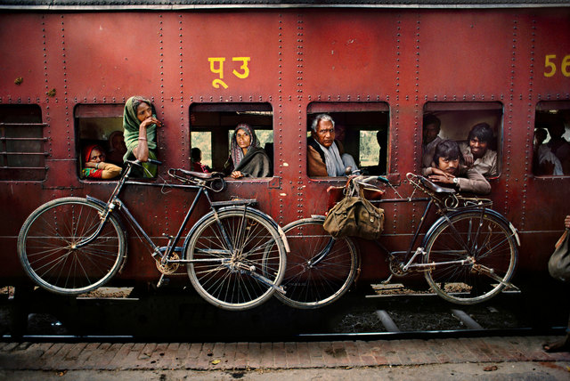 , 'Bicycles on Side of Train,' , Cavalier Galleries