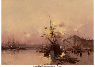 Port Breton au crépuscule