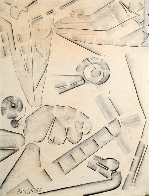 Herbert Zangs, 'Series: Charcoal drawings', 1957, Galerie aKonzept
