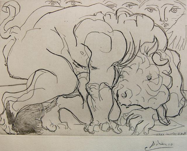 Pablo Picasso, 'Minotaure Blessé, VI. (Injured Minotaur)', 1933, Baterbys