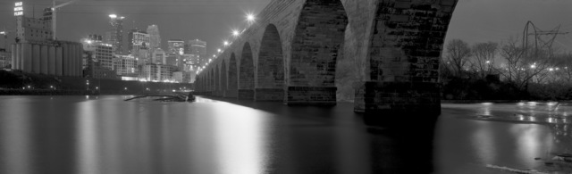 , 'View of Downtown Minneapolis from Base of Stone Arch Bridge, Minneapolis, Minnesota,' 2002, Rosier Gallery