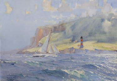 "The Good Cutter ""Winibelle"" as She was Passing the Desirade Lighthouse"