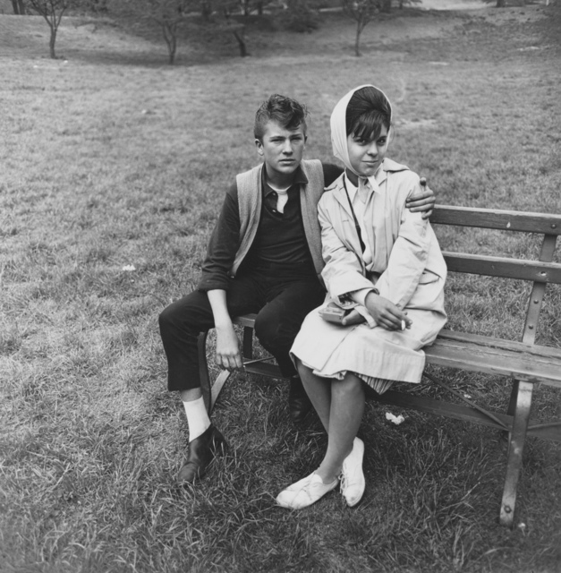 , 'Seated young couple on a park bench, N.Y.C. 1962,' 1962 / printed by Diane Arbus between 1962 and 1964, Lévy Gorvy