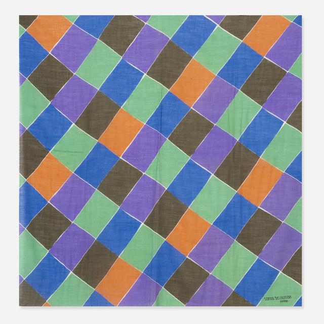 Sonia Delaunay, 'A Damiers shawl', 1920, Wright