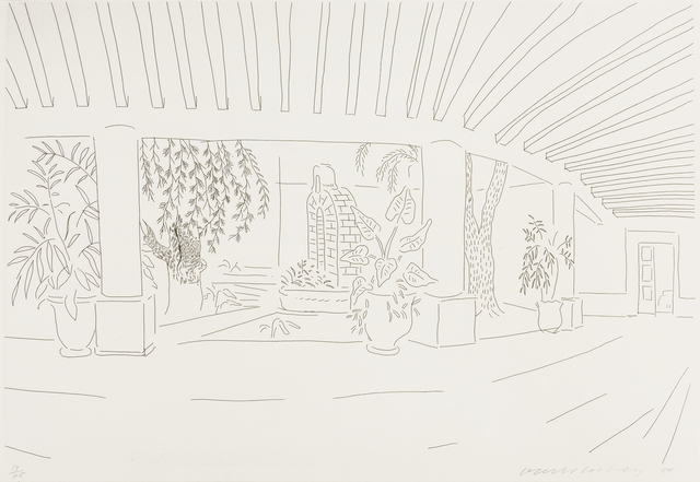 David Hockney, 'Mexican Hotel Garden', 1984, RAW Editions Gallery Auction