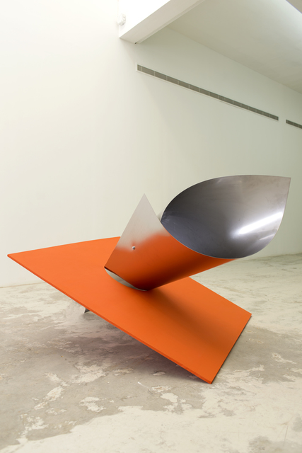 Jessica Warboys, 'Hinge Bow', 2013, Installation, Painted wood, stainless steel, directional speakers, Beirut Art Center