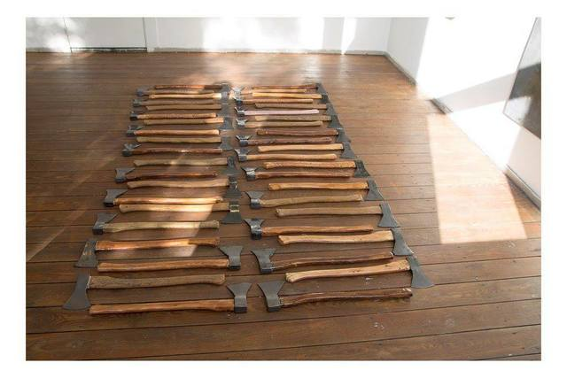 , '42 of 44 axes,' 2015, All Together Now