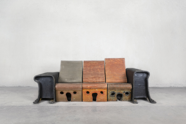Gaetano Pesce, 'Felt Sofa from Marc-André Hubin's Apartment, Paris', 1985-1986, Friedman Benda