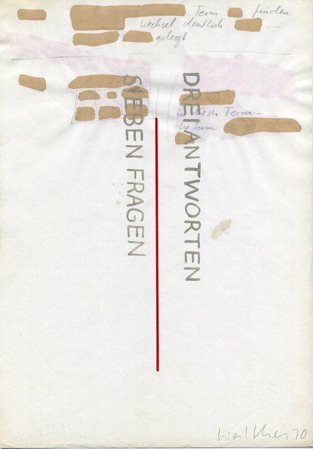 , 'Werkzeichnungen,' 1970, Galerie Jocelyn Wolff