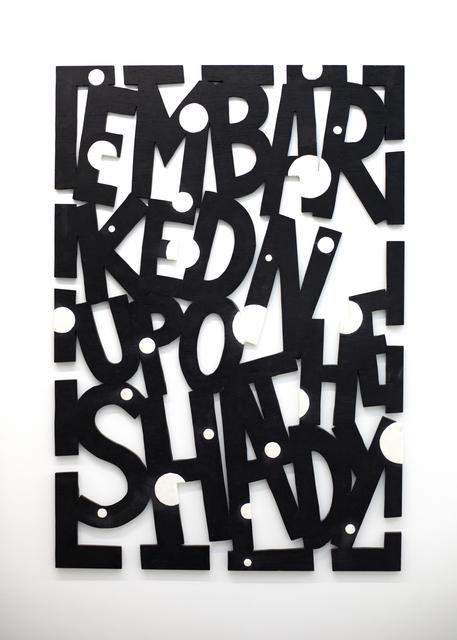 , 'Words 48 (Dazzle Dialectics 1),' 2016, Galerie Bart