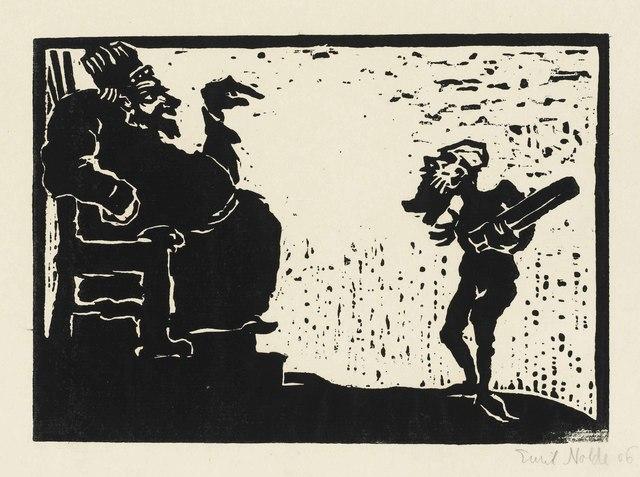 Emil Nolde, 'König und Narr', 1906, Print, Woodcut on thin laid paper, Christie's