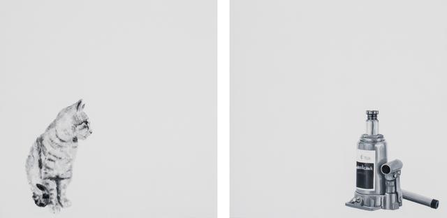 , 'Par/Adox (Cat), Diptych,' 2017, Beatriz Esguerra Art