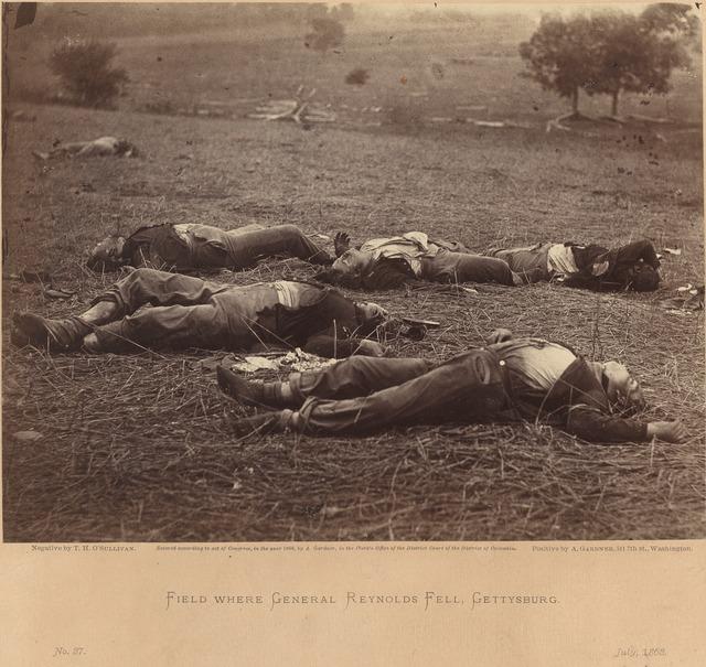 Timothy H. O'Sullivan, 'Field Where General Reynolds Fell, Gettysburg, July 5, 1863', July 5-1863, Photography, Albumen print, National Gallery of Art, Washington, D.C.
