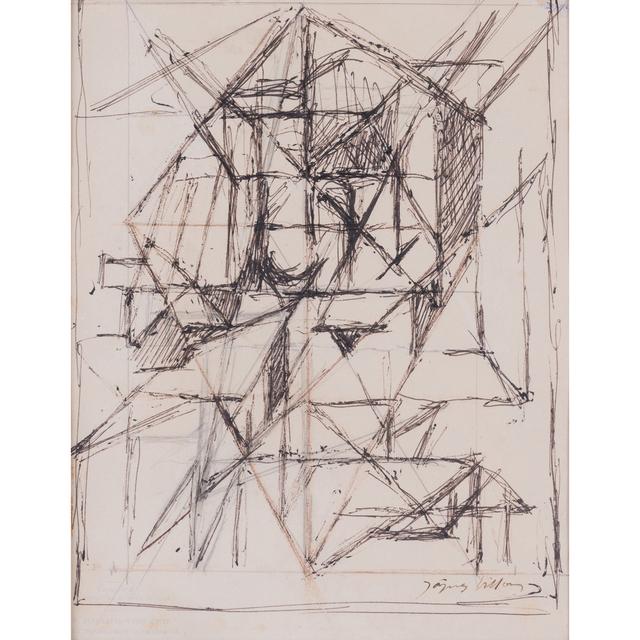 Jacques Villon, 'Dessin préparatoire pour 'Délivrance ou comme il vous plaira'', circa 1957, PIASA