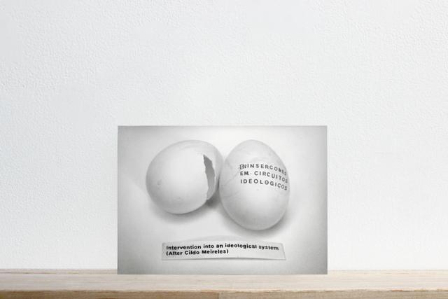 ", 'Postcards to C: Henrik Olesen's ""Intervention Into an Ideological system (After Cildo Meireles), 2003"",' 2017, Josée Bienvenu"