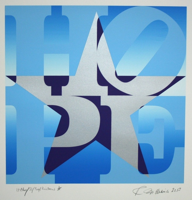 Robert Indiana, 'Star of Hope (Light Blue/Silver/Purple)', 2013, Long-Sharp Gallery