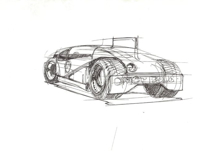 Syd Mead, 'Concept Sketch for ATV Military Vehicle, Rear View', 2005, Edward Cella Art and Architecture