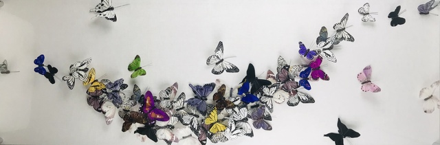 Juan Carlos Collada, 'Spring Fling', 2021, Mixed Media, Hand Painted Butterflies, Whistler Contemporary
