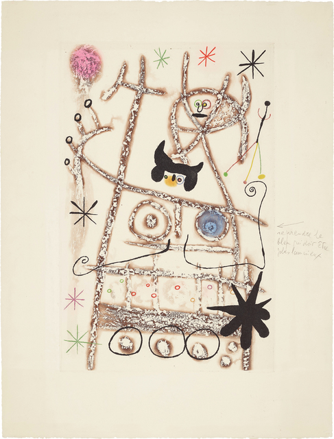 Joan Miró, 'Les forestiers (bistre) (The Foresters - dark brown)', 1958, Phillips