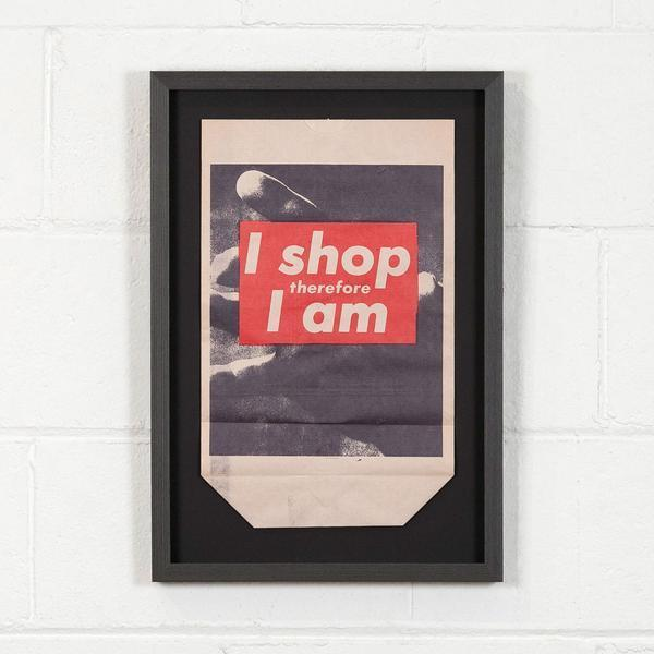 , 'I Shop Therefore,' 1990, Caviar20
