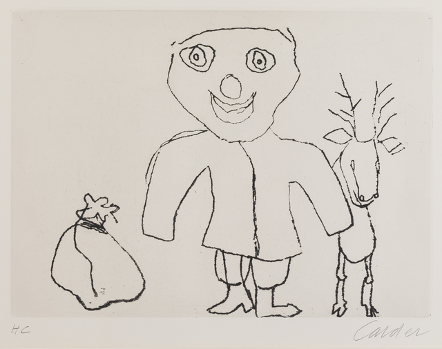 Alexander Calder, 'Santa Claus', 1974, Print, Etcing, Childs Gallery