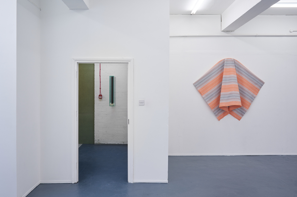 Installation views, As a butterfly folded in a caterpillar that will soon unfold, 2019, Nicoletti Contemporary, London, Photographs by Theo Christelis