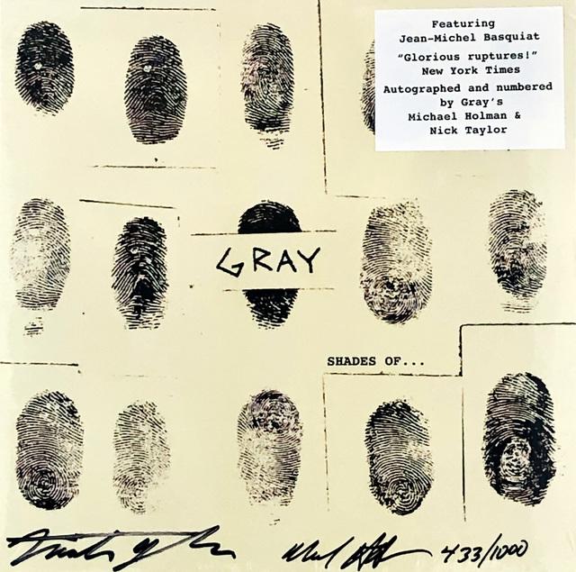Jean-Michel Basquiat, 'Basquiat Gray vinyl record art ', 2013, Lot 180