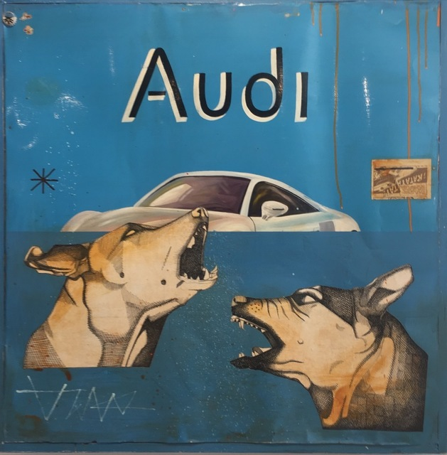 Armando Lerma, 'Audi', Painting, Mixed media, Melissa Morgan Fine Art