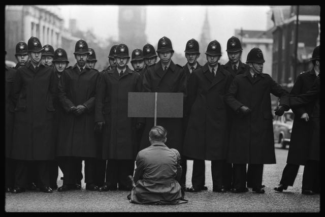 , 'Protester, Cuban Missile Crisis, Whitehall, London,' 1962, Hamiltons Gallery