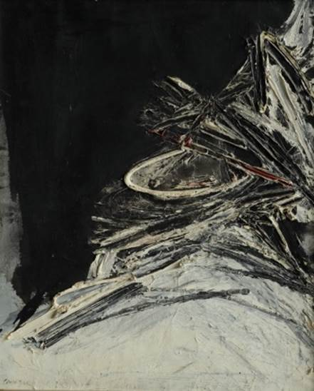 Rafael Canogar, 'S/T/ 1959/ Signed to the front and to the back', 1959, Painting, Oil on canvas, Galería Marita Segovia