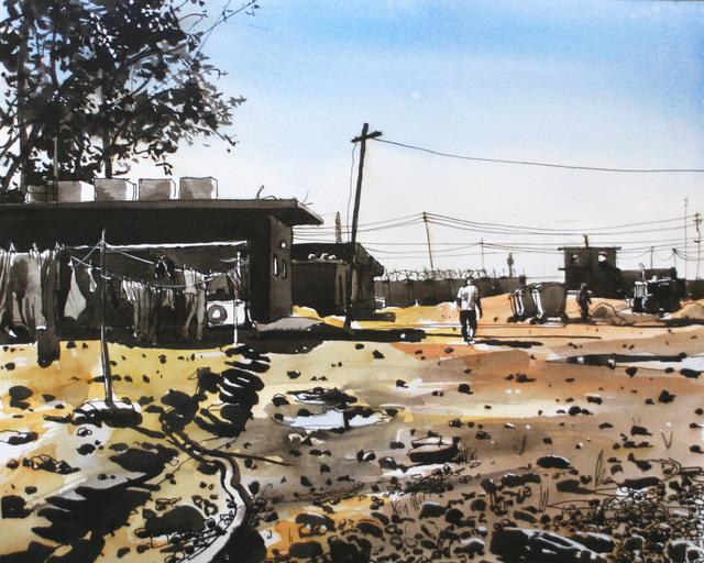 Steve Mumford, '8A1 Bravo Co., Ramadi', 2004, Postmasters Gallery