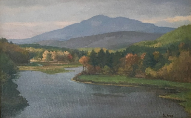 , 'River & Mt Ascutney from Springfield Dam,' 2015, Canal Street Art Gallery
