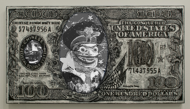 , 'Chinese Tyrant B/W 100$ Bill,' 2013, Postmasters Gallery