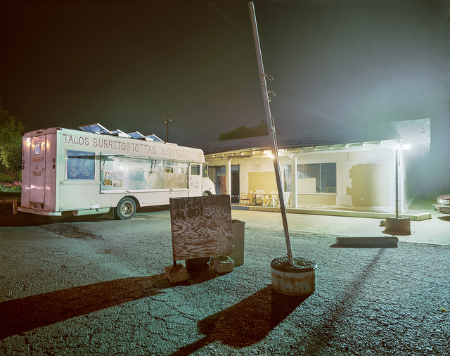 , 'Taquería El Pollo Taco Truck Parked at Night, Woodland, California,' 2011, Robert Klein Gallery