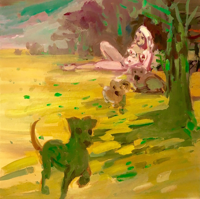 , 'Green Dogs,' 2018, Freight + Volume