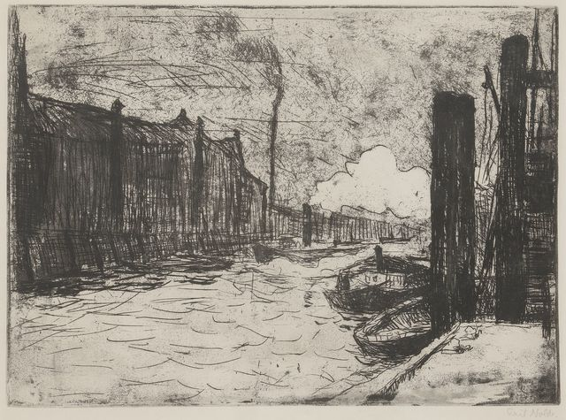 ", '""Hamburg, Freihafen (Hamburg Harbor)"",' 1910, Catherine E. Burns Fine Prints"