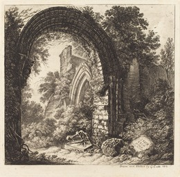 George Cuitt the Younger, 'Saxon Arch', 1810, Print, Etching, National Gallery of Art, Washington, D.C.