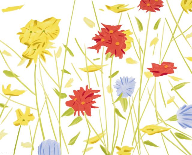 Alex Katz, 'Wildflowers', 2017, Galerie Schimming