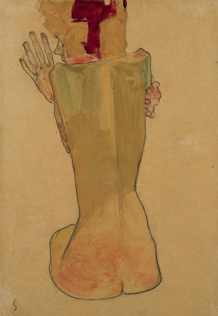 Egon Schiele, 'Study of the Artist's Sister', 1910, W&K - Wienerroither & Kohlbacher