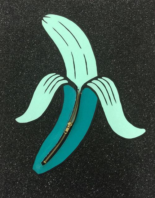 , 'Banana Unzipped (Green),' 2016, Lawrence Alkin Gallery