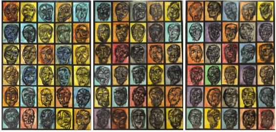 Rigo (José Rigoberto Rodriguez Camacho), 'Study of 90 Heads', ca. 2017, Thomas Nickles Project