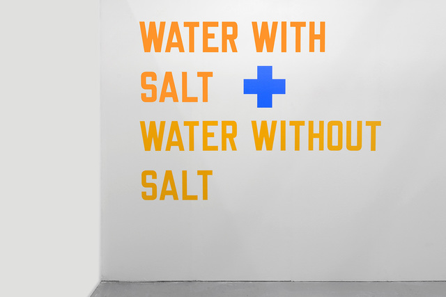 , 'WATER WITH SALT + WATER WITHOUT SALT ,' 1987, Alfonso Artiaco